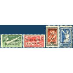 GRAND LIBAN N°18 A 21 JEUX OLYMPIQUES SURCHARGÉS, NEUFS* 1924
