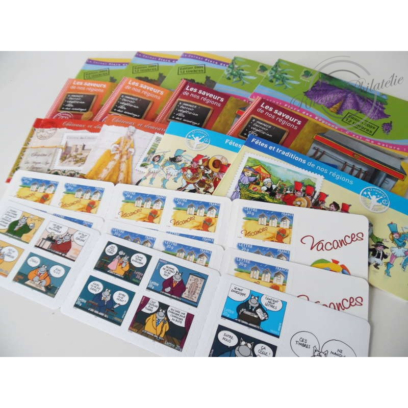 LOT CARNETS TIMBRES AUTOADHESIFS POUR AFFRANCHIR 186 LETTRES PRIORITAIRES 20G