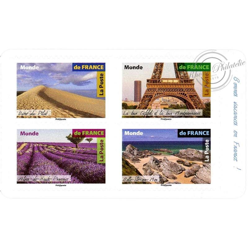 """CARNET """"PAYSAGES DE FRANCE"""" BC1540 LETTRE 20G MONDE"""