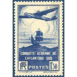 N°__320 TRAVERSÉE AÉRIENNE DE L'ATLANTIQUE , TIMBRE NEUF ** 1936