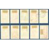 MONACO N°185 A 194 TIMBRES POSTE OBLITÉRÉS 1939