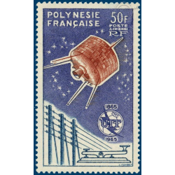 POLYNESIE POSTE AERIENNE N°_10 UNION INTERNATIONALE TELECOMMUNICATIONS (1965)