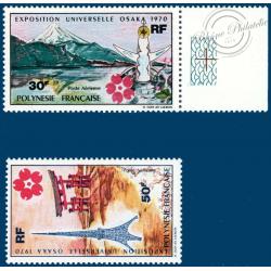 POLYNESIE POSTE AERIENNE N°_32-33 EXPOSITION UNIVERSELLE D'OSAKA AU JAPON (1970)