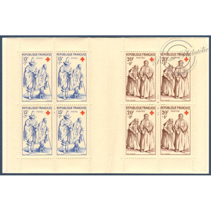 CARNET CROIX-ROUGE N°2006 TIMBRES NEUFS** 1957 (inscription couverture)