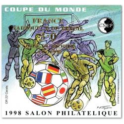 """BLOC CNEP NON DENTELE N°_27a """"COUPE DU MONDE 1998"""" SURCHARGE"""