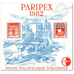 "BLOC CNEP NON DENTELE N°3Aa ""PARIPEX"" 1982"