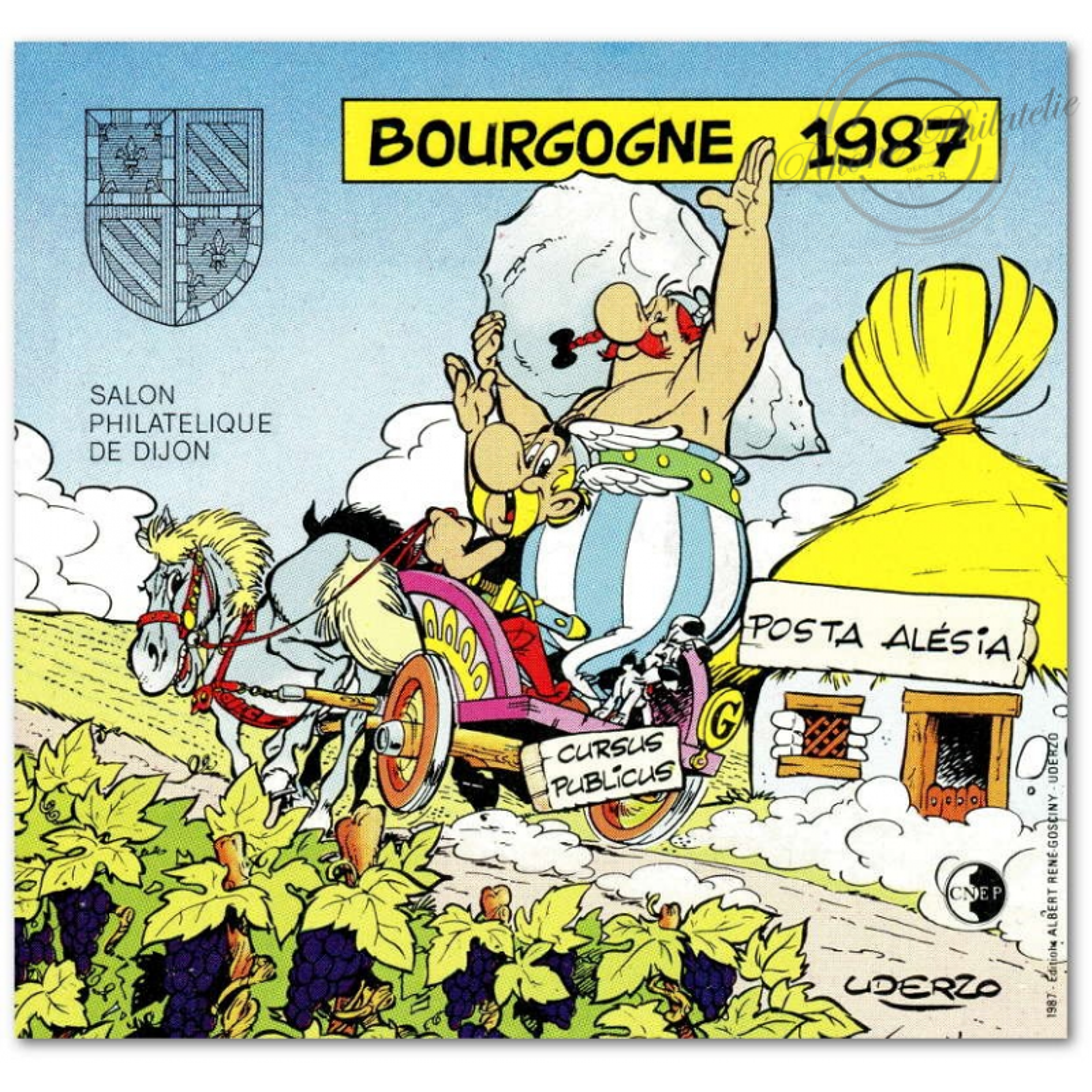"BLOC CNEP NON DENTELE N°8a ""BOURGOGNE 1987"""