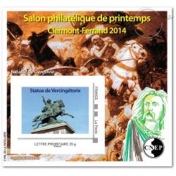 "BLOC CNEP N°_65 SALON PHILATELIQUE AUTOMNE ""CLERMONT FERRAND 2014"" AUTOADHESIF"
