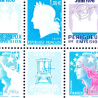 BANDE HELIO TIMBRES POSTE N°4465 A 4472 IMPRESSION HELIO (2010) NEUFS**