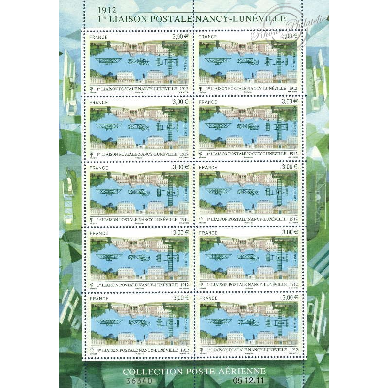 PA N°_75 LIAISON NANCY LUNEVILLE 2012 FEUILLE 10 timbres
