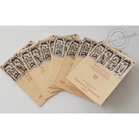 LOT DE 7 CARNETS CROIX-ROUGE N°2009 TIMBRES POSTE NEUFS** 1960