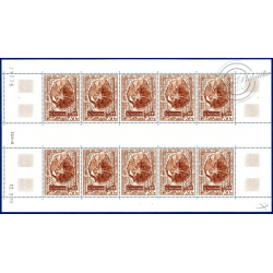 TAAF PA N°_22 STATION FEUILLE DE 10 TIMBRES ILE AMSTERDAM
