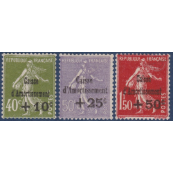 N°__275 A 277 CAISSE D'AMORTISSEMENT TIMBRES NEUFS ** 1931