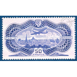 PA N°_15 AVION SURVOLANT PARIS TIMBRE NEUF 1936