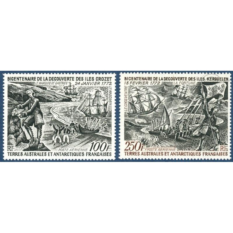 TAAF POSTE AERIENNE N° 27-28 ILES CROZET ET KERGUELEN (1972)
