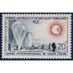 TAAF No 21 ANNEE INTENATIONALE DU SOLEIL CALME TIMBRE DE 1963