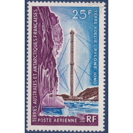TAAF PA N° 13 COMMUNICATIONS TIMBRE NEUF SANS CHARNIERE 1966