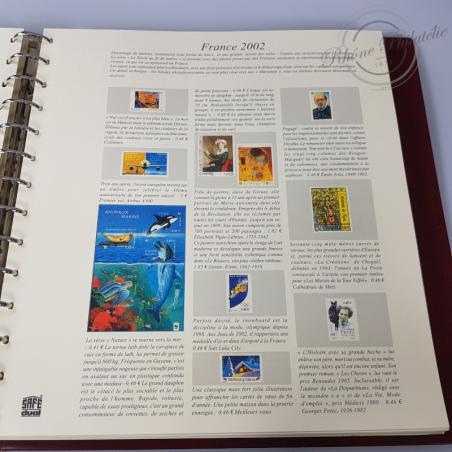ALBUM SAFE 2001-2003  avec feuilles  pré-imprimées pour timbres français