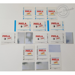 12 TIMBRES PHILA2000 LETTRES PRIORITAIRES FRANCE ET MONDE