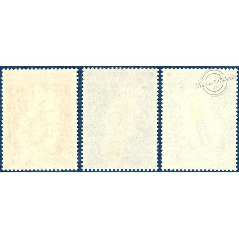 TAAF No 49 A 51 SERIE DES INSECTES TIMBRES NEUFS SANS CHARNIERE 1973