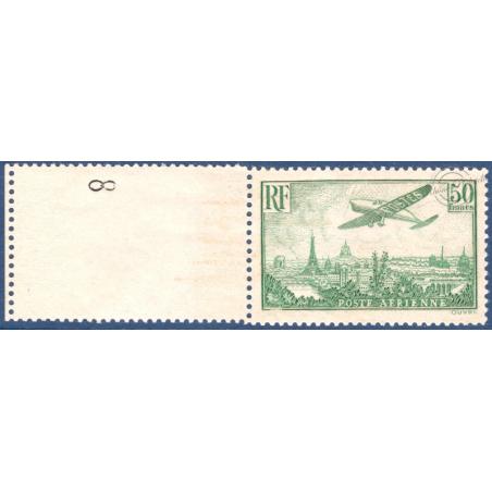 PA N°14 AVION SURVOLANT PARIS TIMBRE NEUF** BORD DE FEUILLE 1936