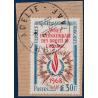 TAAF N°_27 ANNÉE INTERNATIONALE DROITS DE L'HOMME, TIMBRE DE 1968 OBLITERE EN 1970
