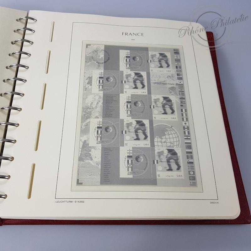ALBUM LEUCHTTURM 2002-2004 AVEC BOITIER ET FEUILLES pour timbres France