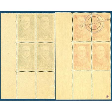 N°__377 ET 377A COIN DATÉ SOCIETE DES OEUVRES DE MER, TIMBRES NEUFS 1937