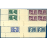 N°__381 A 383  COINS DATÉS CHOMEURS INTELLECTUELS, TIMBRES NEUF **, 1938