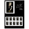 COLLECTOR JOHNNY HALLYDAY TIMBRES LETTRES 20G (2009) AUTOADHESIFS