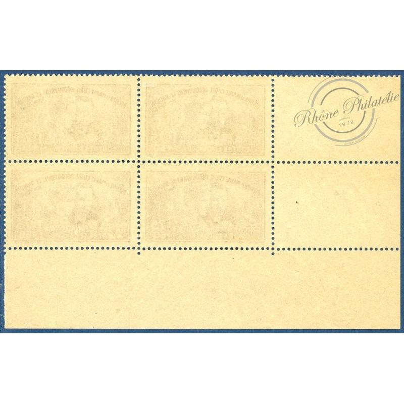 N°__402 COIN DATE 1938 40ème ANNIVERSAIRE DE LA DECOUVERTE DU RADIUM TIMBRES NEUF**