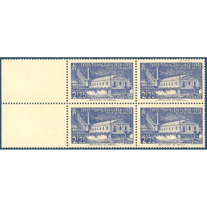 N°__430 EXPOSITION DE L'EAU BLOC 4 TIMBRES NEUFS ** 1939