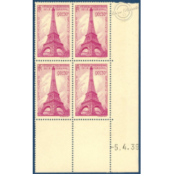 N°__429 COIN DATE TOUR EIFFEL 1939 TIMBRES NEUFS**