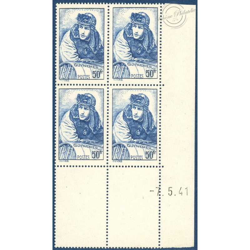 N°__461 COIN DATÉ GEORGES GUYNEMER, TIMBRES NEUFS**