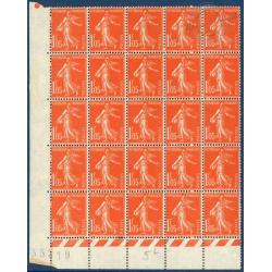 N°__195 SEMEUSE FOND PLEIN, TIMBRES NEUFS** 1924-26