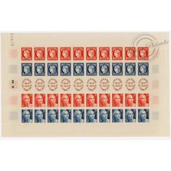CENTENAIRE DU TIMBRE EN FEUILLE DE 40 TIMBRES NEUFS** 1949 - N°830 A 833