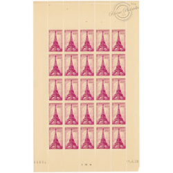 FEUILLE COMPLÈTE N°429, TIMBRES NEUFS** 1939
