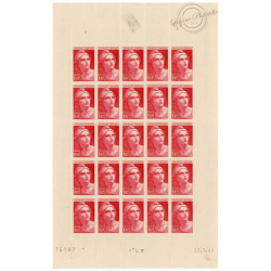 FEUILLE COMPLÈTE N°733, TIMBRES NEUFS** -- 1947