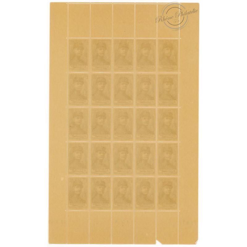 2 FEUILLES COMPLÈTES N°454 et 455, TIMBRES NEUFS** 1940