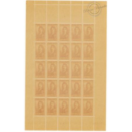 SÉRIE FEUILLES COMPLÈTES N°612 A 617, TIMBRES NEUFS** 1944
