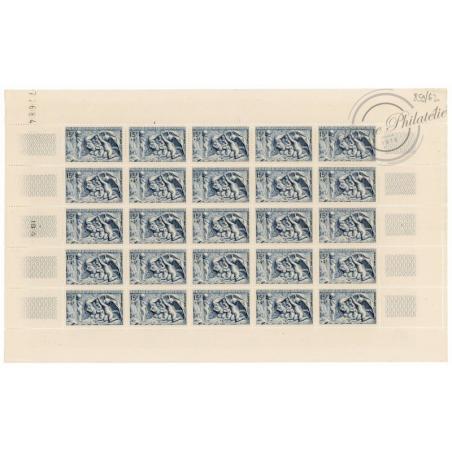 SÉRIE FEUILLES COMPLÈTES N°859 A 862, TIMBRES NEUFS** 1949