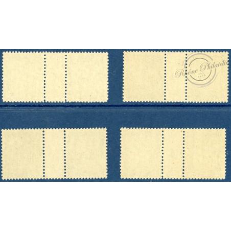 LOT DE 4 MILLÉSIMES N°_31 TIMBRES TAXE 20c OLIVE NEUF **, 1924