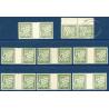 LOT DE 8 PAIRES N°_31 TIMBRES TAXE 20c OLIVE, OLIVE FONCÉ NEUF **, 1926