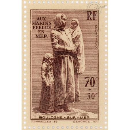 N°447, FEUILLE DE 25 TIMBRES, STATUE DESRUELLES, NEUFS** - 1939
