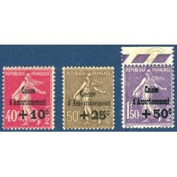 N°266 A 268 CAISSE D'AMORTISSEMENT NEUFS** - 1930