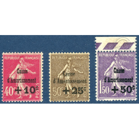 N°266 A 268 CAISSE D'AMORTISSEMENT NEUFS - 1930