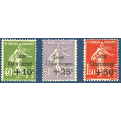 N°275 A 277 CAISSE D'AMORTISSEMENT TIMBRES NEUFS ** 1931