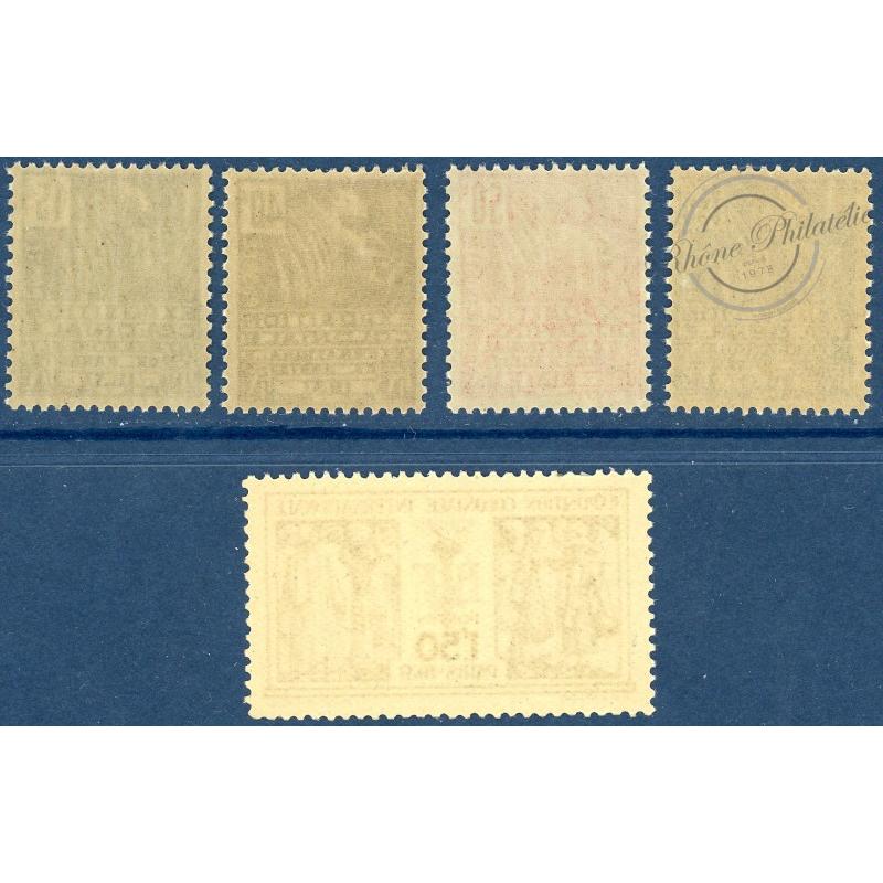 N°270 A 274 EXPOSITION COLONIALE DE PARIS, TIMBRES NEUFS**, 1930