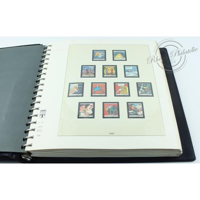 ALBUM LINDNER 1988-1998, feuilles pour timbres de France