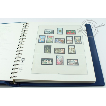 ALBUM LINDNER 1977 à 1983 AVEC BOITIER pour timbres de France